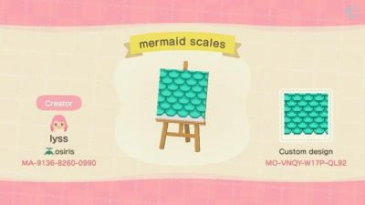 ACNL QR Codes acnhcustomdesigns:  mermaid things <3