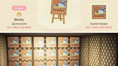 ACNH QR Codes Bidoof Crossing – qr-closet: pigeon nest boxes 🐣