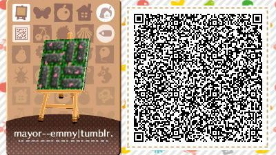 ACNL Paths New Horizon / Leaf QR Code Paths