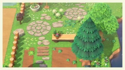 ACNL QR Codes qr-closet:  circular and oval shaped stone paths