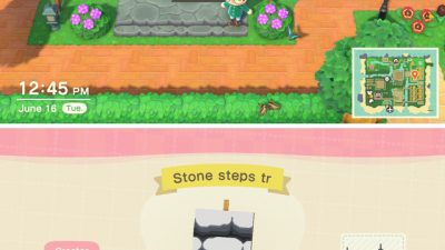 ACNH QR Codes qr-closet:transparent stone steps 🌱