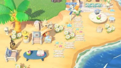 ACNL QR Codes acnhcustomdesigns:  beach planks and starfish designed by rel of…