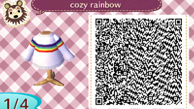 ACNH QR A cute outfit for fall or really any season you feel like showing off your rainbow pride, enjoy!