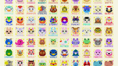 ACNH QR Codes qr-closet:all 391 villager portraits with names 🎉
