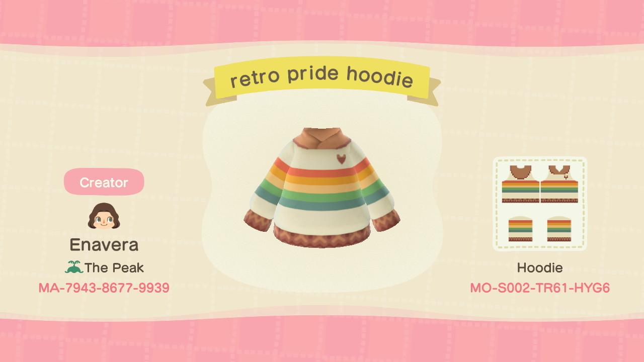 qr-closet:retro pride hoodie 🏳🌈