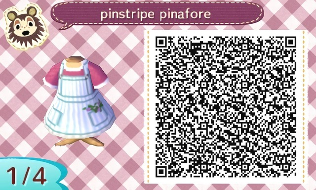 Here's a cute pinstripe pinafore dress with flowers in the pockets. Enjoy! ♡