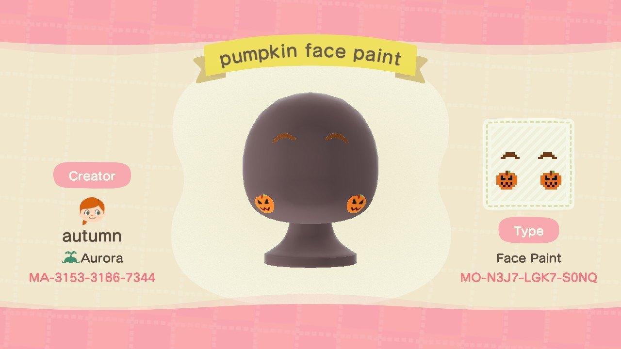 Bidoof Crossing - autumnplaysacnh: Pumpkin face paint