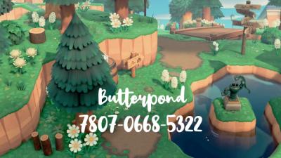 ACNH QR Dreaming of Butterpond  @butterpond 7807-0668-5322