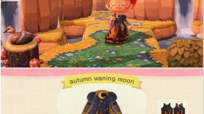 ACNH QR Codes qr-closet:autumn waning moon gown 🌙