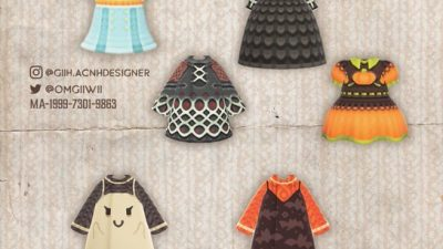 ACNH QR Codes acnhcustomdesigns:halloween sweaters designed by various…
