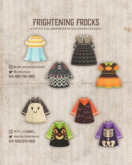 acnhcustomdesigns:halloween sweaters designed by various...