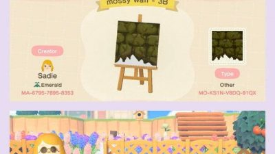 ACNH QR Codes Bidoof Crossing – qr-closet: moss brick path 🌿