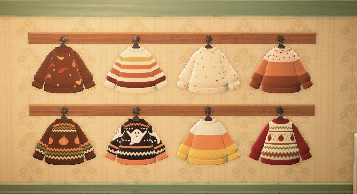 Bidoof Crossing - acnhcustomdesigns: autumn sweaters