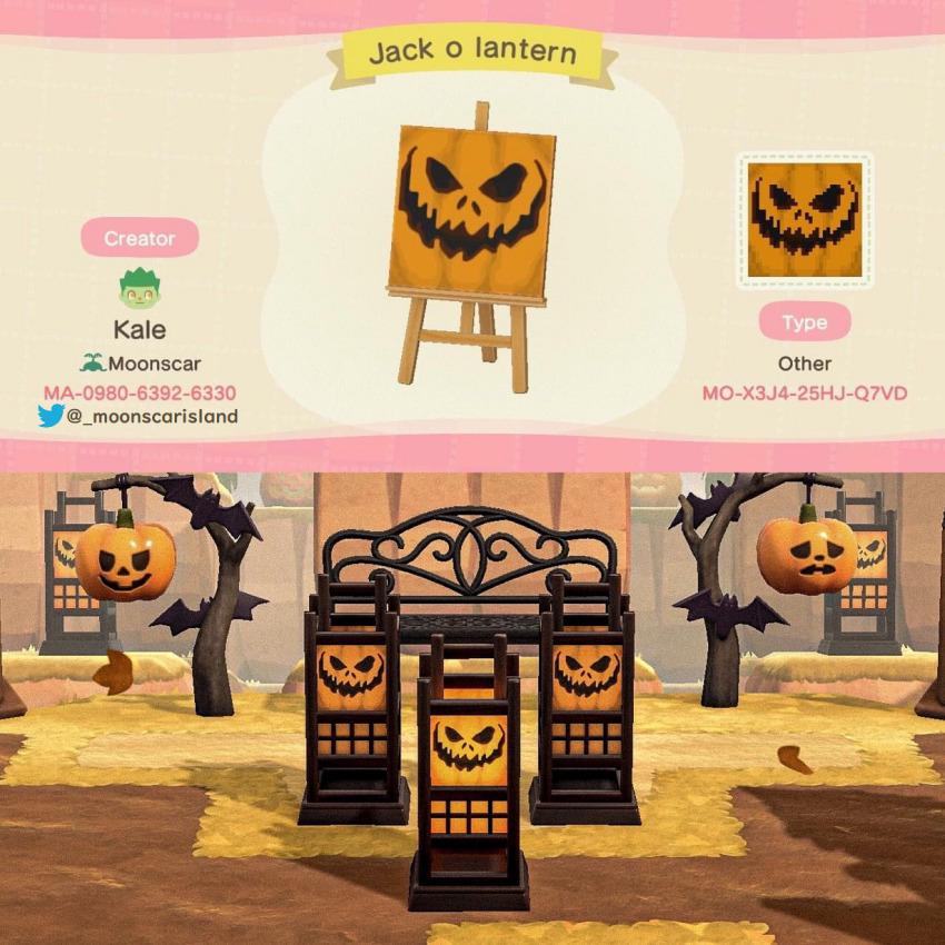 acnhcustomdesigns:jack o lantern pattern