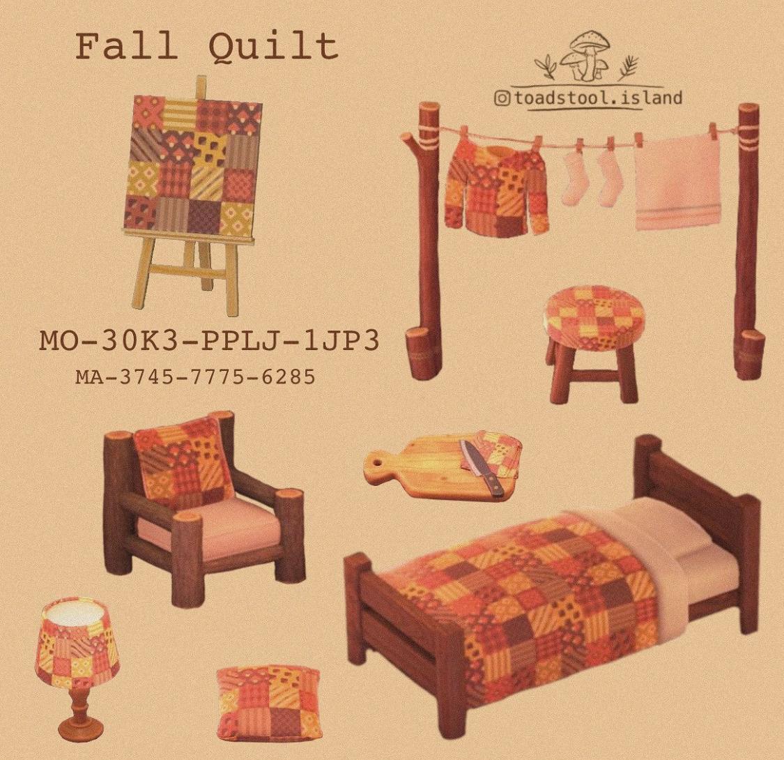 acnhcustomdesigns:fall quilt
