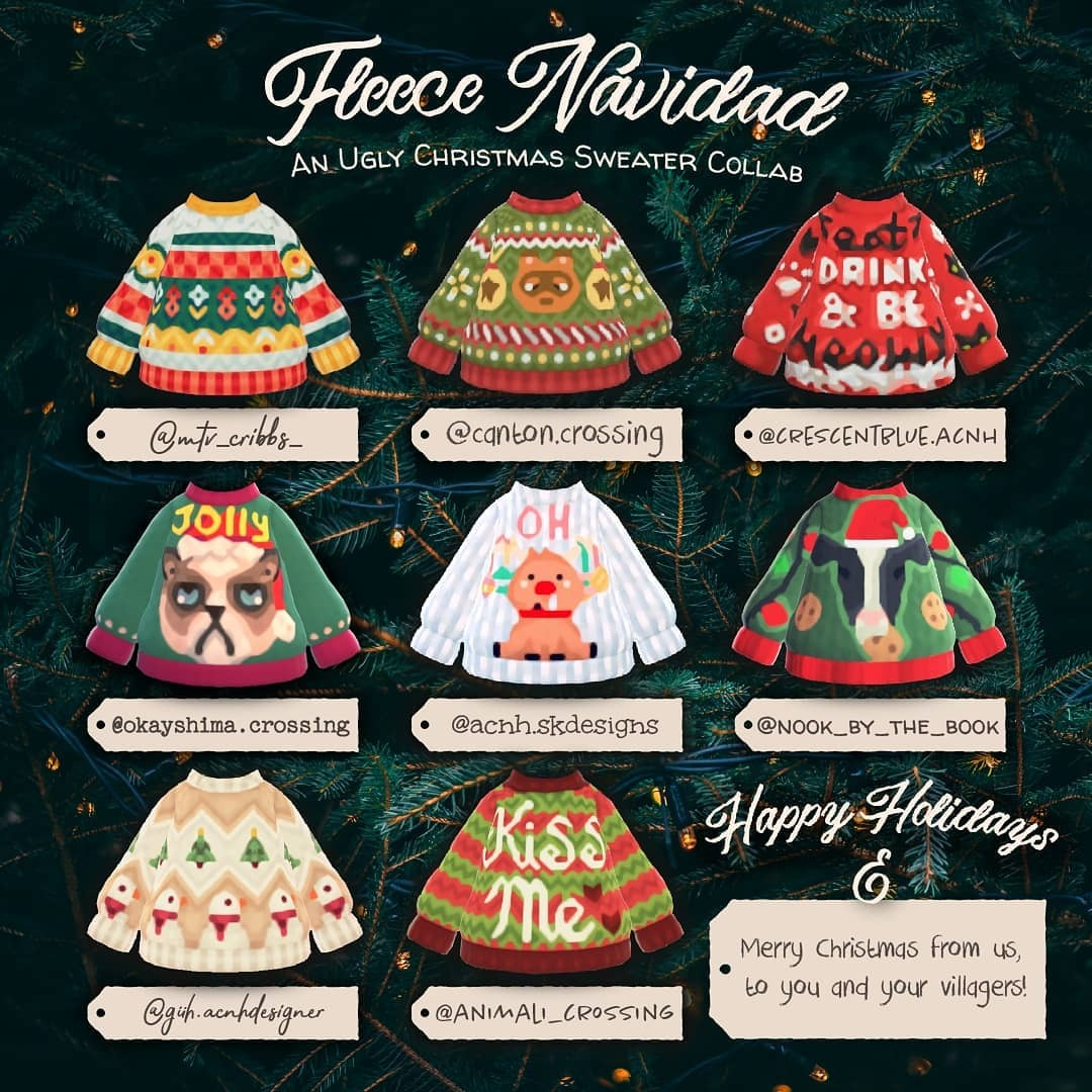 qr-closet:ugly christmas sweater collab 🎄    Top Row (left to...