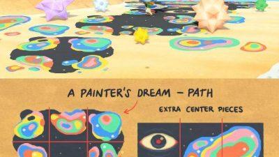 ACNH QR Codes qr-closet:paint spill path 🎨