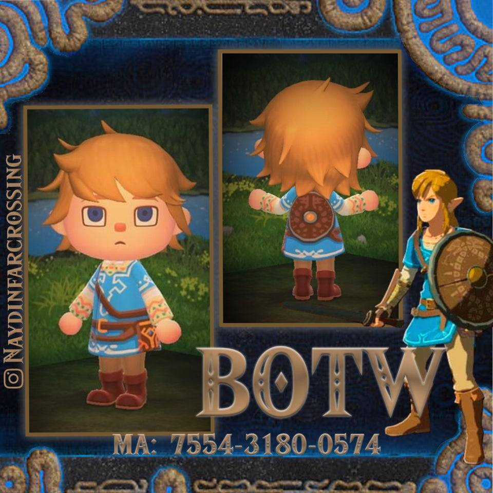qr-closet:link's champion tunic with a traveler's shield 🌟