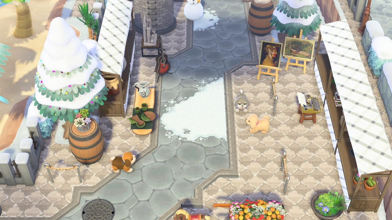 qr-closet:  diamond tile path w/ borders ✨