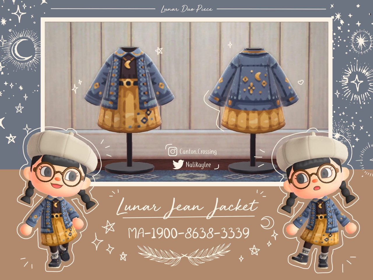 crossingdesigns:lunar and starry jean jackets by @Nalikaylee on...