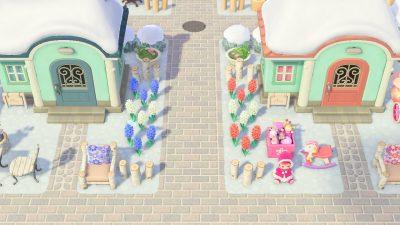 ACNH QR Codes qr-closet:  gray brick road w/ stone accents ✨