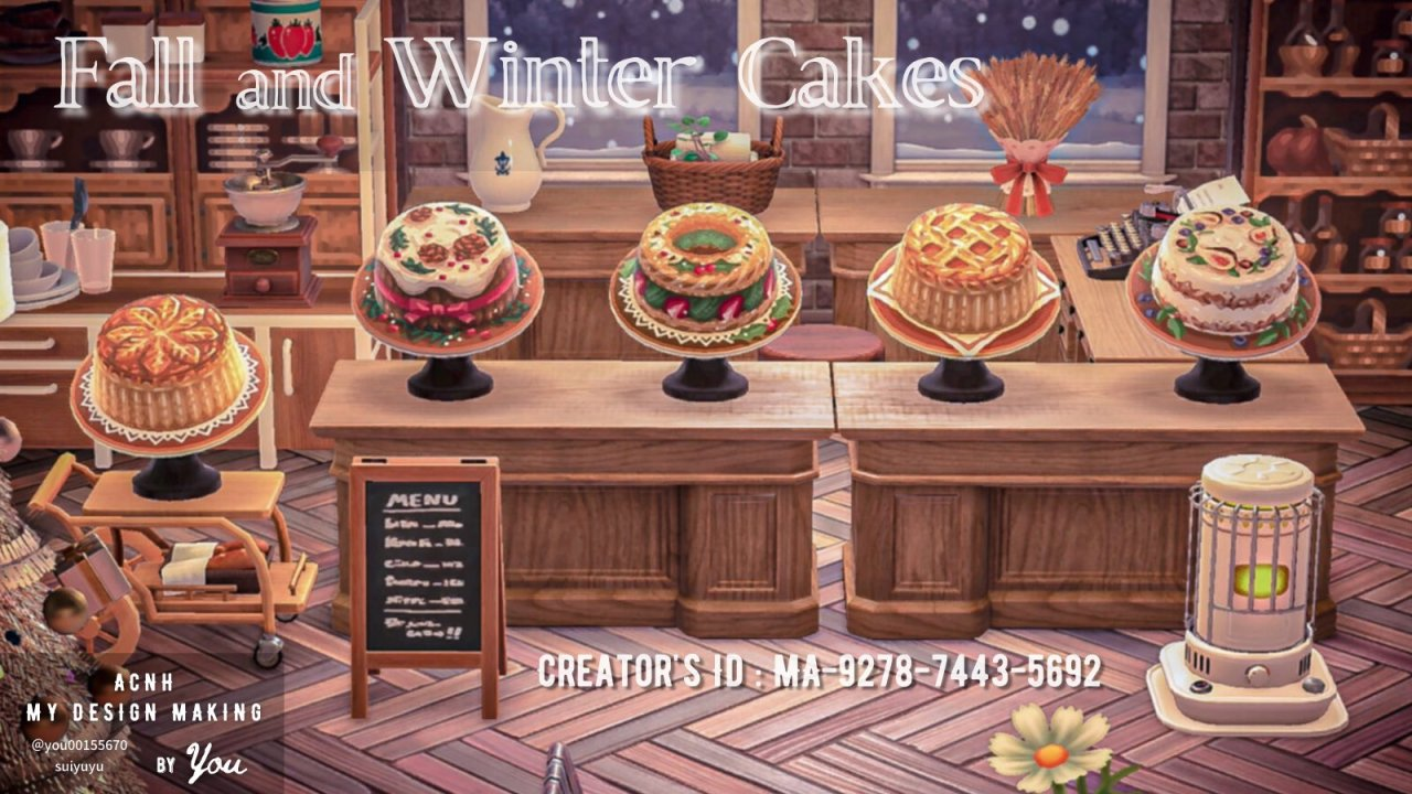 qr-closet:  fall & winter cakes 🍰