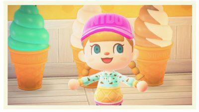 ACNH QR Codes qr-closet:mint chocolate chip ice cream shirts 🍦
