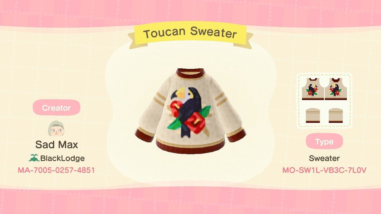 qr-closet:toucan sweater ✨