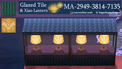 ACNH QR Codes happyhappydesigns:Glazed Roof Tile and Xiao LanternA couple of…