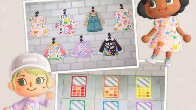 ACNH QR Codes qr-closet:colourpop-inspired clothing & makeup palette…
