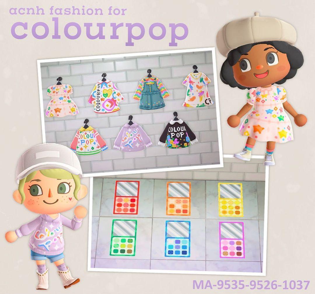 qr-closet:colourpop-inspired clothing & makeup palette...