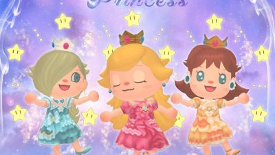 ACNH QR Codes qr-closet:  mario princesses – peach, daisy, & rosalina ✨
