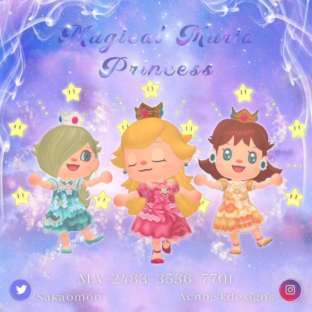 qr-closet:  mario princesses - peach, daisy, & rosalina ✨