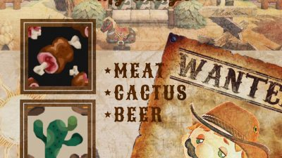 ACNH QR Codes qr-closet:western fabrics – meat, cactus, & beer ✨
