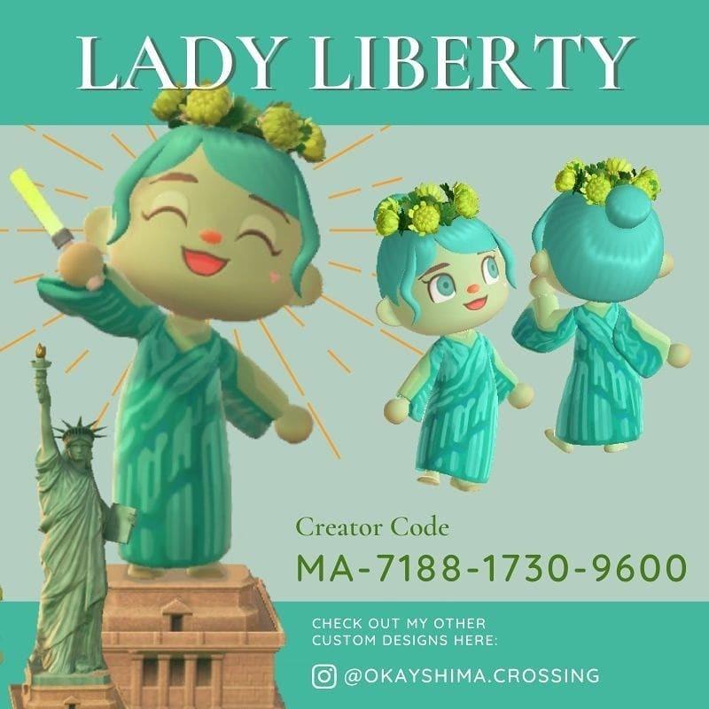 qr-closet:statue of liberty dress 🗽