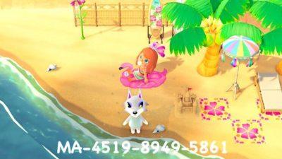 ACNH QR Codes qr-closet:flamingo pool float ✨