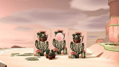 ACNH QR Codes qr-closet:cactus standee ✨