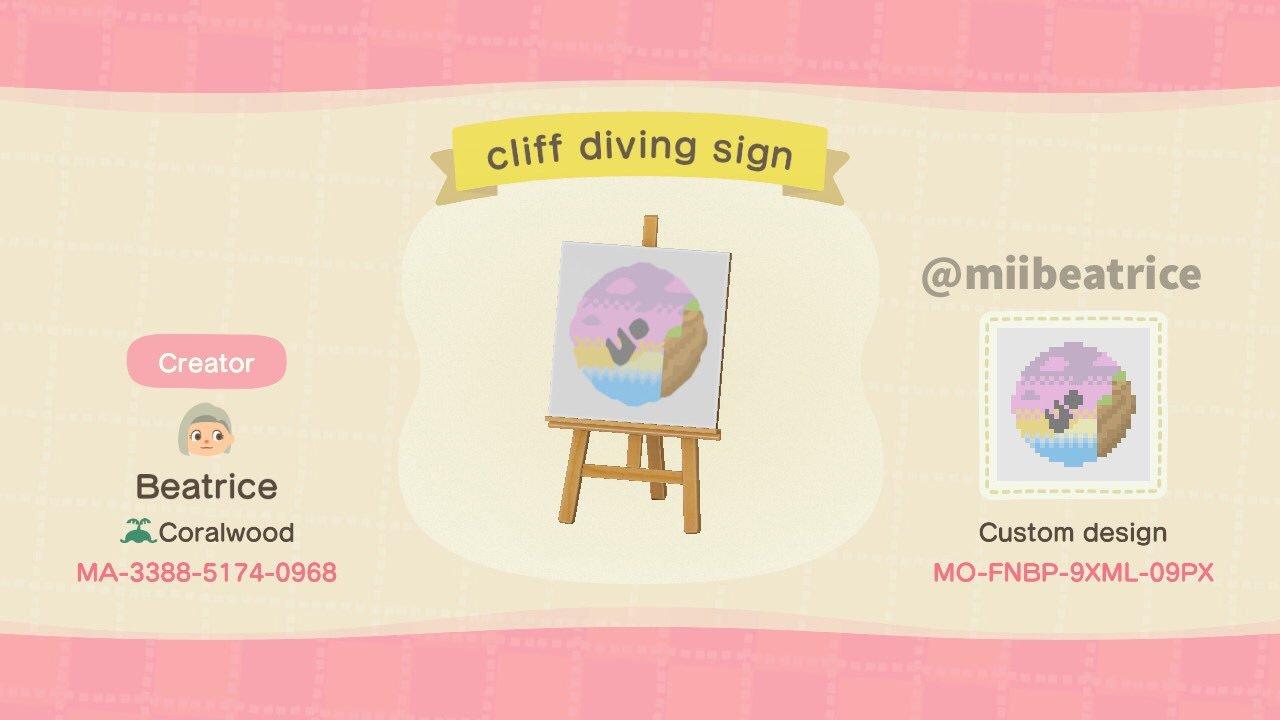 qr-closet:cliff diving sign ✨