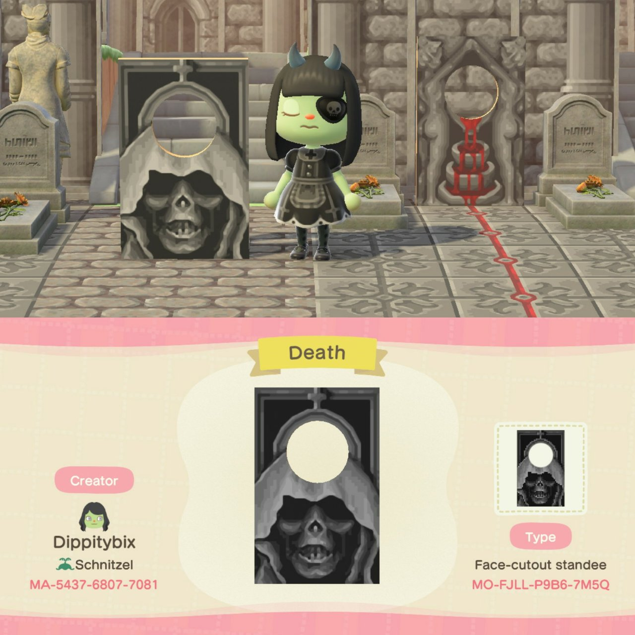 qr-closet:death standee ✨
