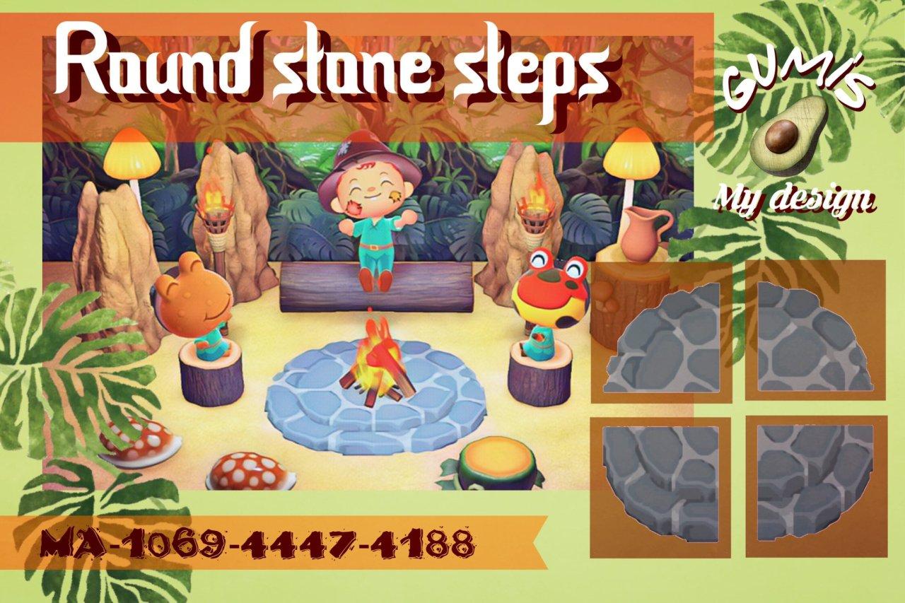 qr-closet:  round stone steps ✨