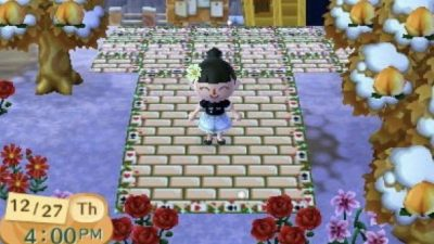 ACNL Paths blitzbijou:  New Alice in wonderland themed path as requested by @neko-musu !! Cards and roses on…