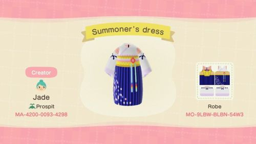 ACNL QR Codes hiboudeluxe:  some final fantasy outfits I made. Tifa's is a…