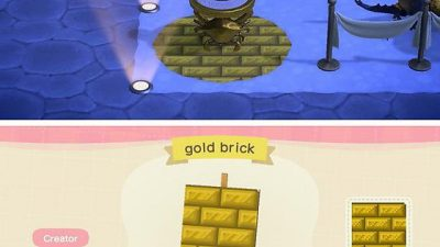 Animal Crossing: A gold brick pattern to match the zodiac items! 💫✨🌠