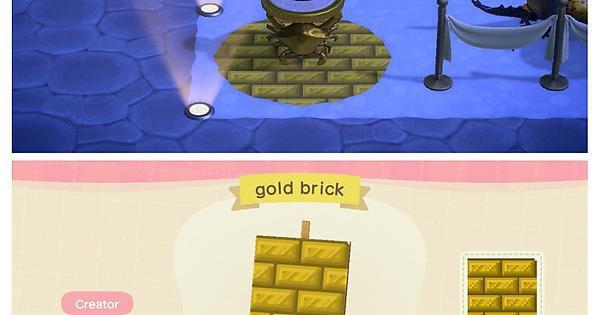 A gold brick pattern to match the zodiac items! 💫✨🌠