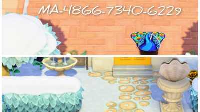 Animal Crossing: Added exterior corner designs to my shoveled path overlay. Find everything under my creator code MA-4866-7340-6229 🤗