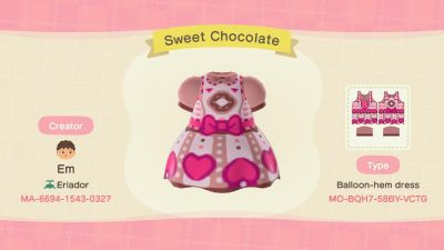 Animal Crossing: An early Valentines day dress! Hope you all like it!