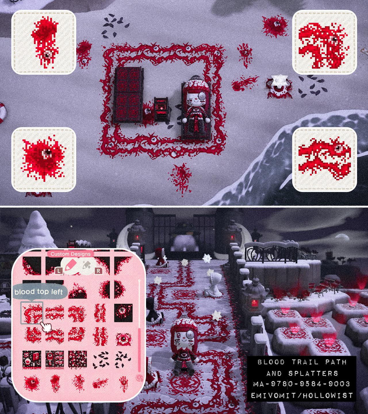 👁️🖤 BLOOD TRAIL PATH + SPLATTERS 💉🩸 there are variations and accompanying blood splatters for you to choose from 🕸️ MA-9780-9584-9003