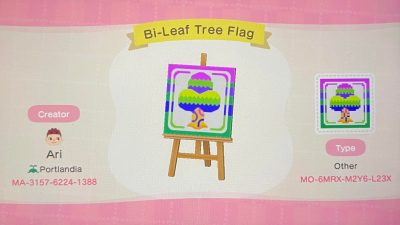 Animal Crossing: Bi flag for pride month