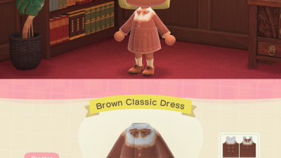 Animal Crossing: Brown Classic Dress (inspired by Pocket Camp)