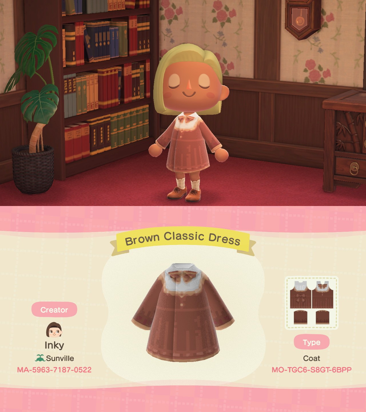 Brown Classic Dress (inspired by Pocket Camp)